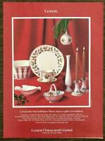 1981 Lenox China Holiday PRINT AD More Than a Gift A Tradition Holly Pattern