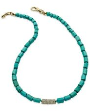 "Michael Kors Gold Tone ""Seaside Luxe"" Turquoise Bead Collar Necklace MKJ2734710"