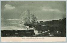 Moclips Washington~Storm Rapids In Ocean~Vintage Postcard