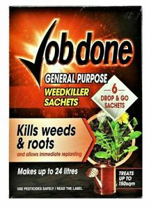 Bayer Job Done General Purpose Weed Killer - Very Strong Weedkiller 6 Sachets