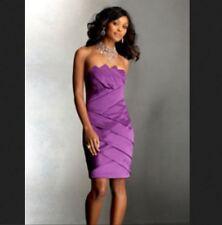 NWT Cache SEXY Purple Strapless Origami Satin Evening Dress  10