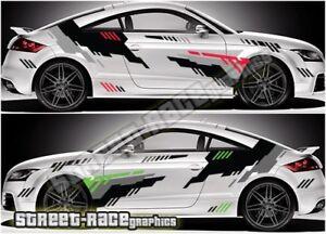 Audi TT rally 005 racing graphics stickers decals vinyl