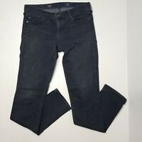 AG Adriano Goldschmied 28 The Stilt Cigarette Leg Skinny Dark Wash Blue Jeans