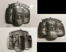 Jack Daniels Barrell Old No. 7 Belt Buckle  Western Cowbow antique pewter finish
