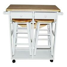 Yu Shan CO USA Ltd 355-21 Breakfast cart with drop-leaf table White