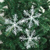 30x Fiocchi di Neve Albero Natale Ornamento da Parete Decorazione Casa Fai Te