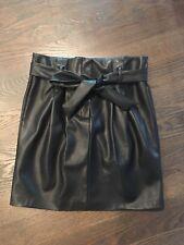Art Du Basic France Black Skirt Size Medium Faux Leather New