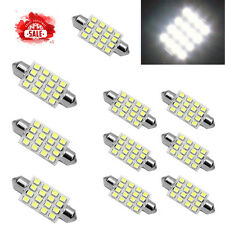 5PCS white 42mm 16SMD Car LED Festoon Dome Map Interior Cargo Light Bulbs  578