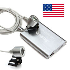 USA! Silver Portable LED Head Light Lamp for Dental Surgical Loupes Dentist Lab
