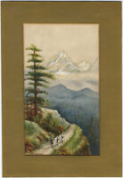 A.G. Anderson - Early 20th Century Watercolour, Figures in an Alpine Landscape