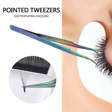 1X Curved Straight Nail Art Clip Applicator False Eyelashes Eye Lashes Tweezer