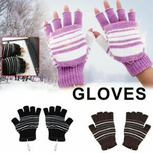 NANANA Unisex USB Heated Gloves Adjustable Temperature Winter Full /& Half Fingers Warmer Laptop Gloves Mittens Double-Sided Mitten Winter Warm Laptop Gloves for Women Men Girls Boys,Black,A