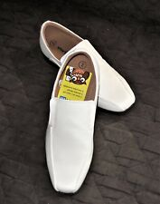 SMARTFIT 168816 Grant Slip On White Boy's Shoes-Size 2-NEW
