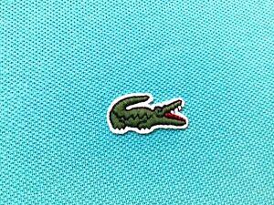 Lacoste Baby Blue Short Sleeve Polo Shirt Men's Size 5 Large    Logo
