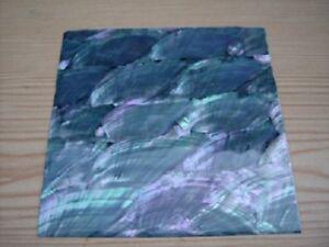 Silver Tint Abalone Shell Sheet 2 Make Jewellery - 90 x 90 mm