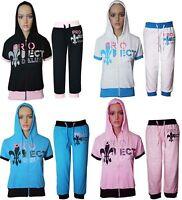 Womens Ladies 3/4 Hoddie Tracksuit Top Jog Jogging Bottoms Trouser Size S M L XL