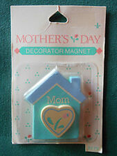 GIBSON GREETING FRIDGE MAGNET Mother's Day HOUSE w HEART REFRIGERATOR Magnet-NOC