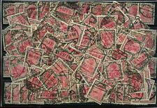 GERMANY 1916 4 MARK RED + BLACK 190 stamps for STUDY or POSTMARKS SG152 cv £240+