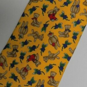 Yellow Bears Grapes VENTURI Silk Tie