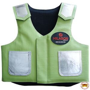 C-810Y Hilason Kids Junior Youth Bull Riding Pro Rodeo Leather Protective Vest