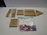 LOT 7 WOODED BLOCK & PEG Puzzles