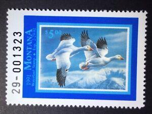 Montana 1991 $5.00 State Duck Stamp (#39) - MNH - MT
