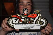 Molenaar Sales Harley Davidson Motorcycle Dealer Gas Oil Porcelain Metal Sign