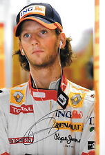 Romain Grosjean SIGNED 12x8  F1 ING-Renault Portrait, 2009 Grand Prix Season