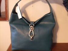 NWT DOONEY & BOURKE Leather Hobo BAG, Logo Lock + Access, BELVEDERE,CELADON-GREE