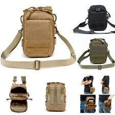 Tactical Shoulder Bag Molle Waist Pack Phone EDC Pouch Outdoor Camping Sports