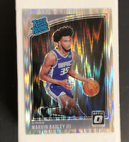 MARVIN BAGLEY III RC 2018-19 Donruss Optic Rated Rookie Shock Holo Prizm # 168