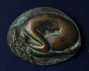 Bronze medal  -  introvert 6.5x5cm... size;