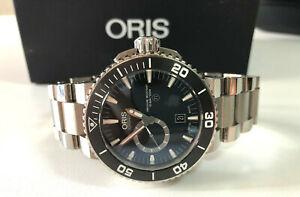 ORIS - DIVER AQUIS TITANIUM SMALL SECOND DATE 743.7664.7154 MB - BRAND NEW !!!