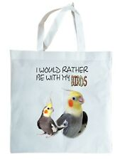 COCKATIEL GIFT TOTE BAG, re-usable shopper. Parrot Gift. Can be personalised