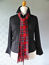 Red tartan scarf 70's concert scarf Bay City Rollers Royal Stewart Tartan plaid