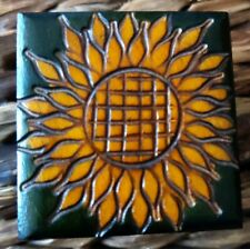 Small Hand Carved Sunflower Jewelery Box Made In Poland one of a kind artisan