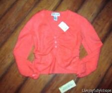 NEXT ERA COUTURE ~ New! NWT Size M ~ Tangerine Boulce Sweater Topper