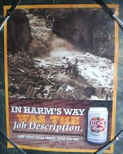 Lucky Lager Beer Poster Logging In Harm's Way