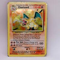 Charizard 4/102 - Holo Rare - Base Set - WOTC - Pokemon Card - DMG
