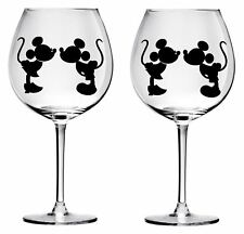 9 Mickey and mini wine glass decals stickers wedding parties diy Bottle jars wal