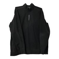 Eddie Bauer Mens 2XLT XXLT Pull Over Long Sleeve 1/4 Zip Shirt Gray Sweater