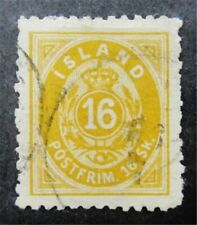 nystamps Iceland Stamp # 7 Used $625 F26y746