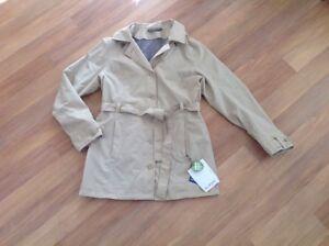 VAUDE Trenchcoat CEPLEX AKTIVE Übergangs Damen Mantel Jacke Sand  Gr. 44 XL NEU