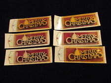 """Merry Christmas Solid Wood Phrase 6x2"""" Ready to Paint or Stain 6pc Lot MIP  A58b"""