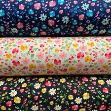 Rose & Hubble Rainbow mixed floral 100% Cotton Fabric Half or  Metres 114cm wide