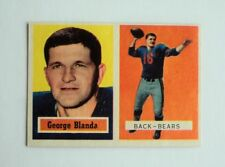 1957 Topps #31 George Blanda Bears - 4 sharp corners