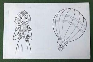 """Original Coloring Book Artwork """"PRINCESS"""" Dan Parent signed by inker Balloon"""