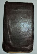 Antique Early 1900's Leather POCKET NOTE PAD / Ledger & Address BOOK