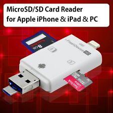Apple iPhone iPad SD / Micro SD MicroSD TF Memory Card Reader Adapter Lightning
