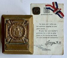 More details for ww2 south african artillery kia el alamein death plaque original sympathy letter